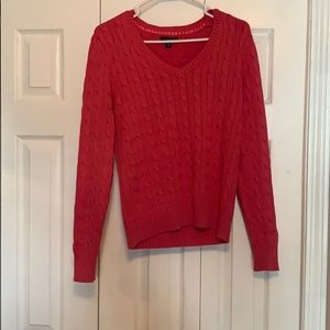 Pink Tommy Hilfiger V-neck Sweater